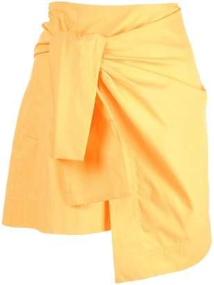 Derek Lam 10 Crosby Wrap Mini Skirt With Knot