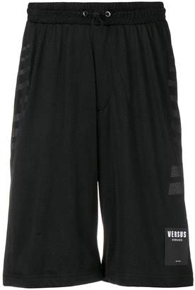 Versus side stripes running shorts
