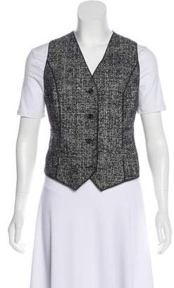 Dolce & Gabbana Satin-Paneled Tweed Vest