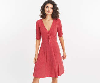 Oasis LONG SPOT RUCHED DRESS