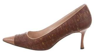 Manolo Blahnik Cork Cap-Toe Pumps