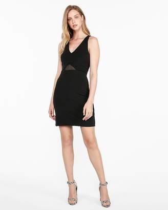 Express Mesh Inset Mini Sheath Dress