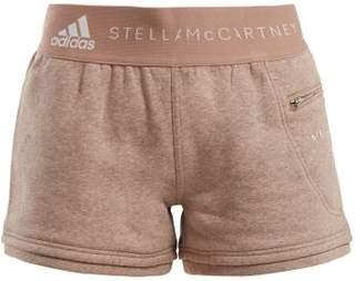 adidas by Stella McCartney Essentials Cotton Blend Shorts - Womens - Pink