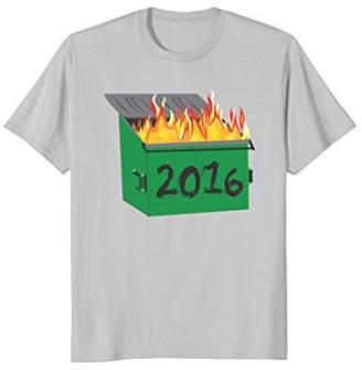 2016 Flaming Dumpster Fire Garbage Fire T-Shirt