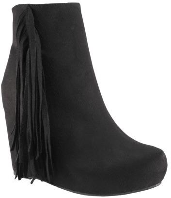 Xhilaration Women's Karidee Wedge Boot - Black