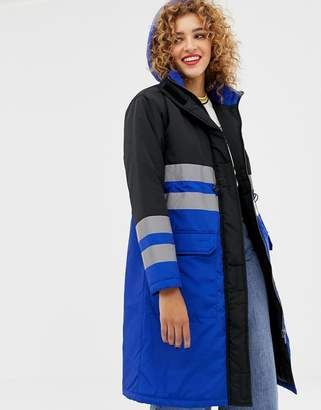 Asos DESIGN anorak parka with reflective tape