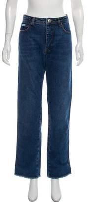 ALEXACHUNG High-Rise Straight-Leg Jeans w/ Tags
