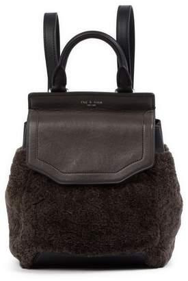 Rag & Bone Genuine Shearling & Leather Small Pilot Backpack