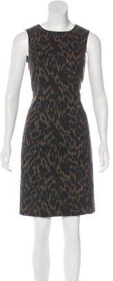 Tahari Leopard Sheath Dress $75 thestylecure.com