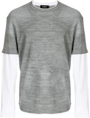 DSQUARED2 paint splattered T-shirt
