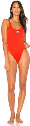 KENDALL + KYLIE X REVOLVE USA One Piece in Red $125 thestylecure.com