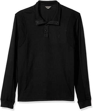 Calvin Klein Jeans Men's Long Sleeve Mock Neck Waffle Knit Henley