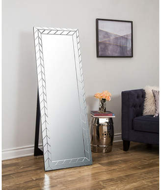 Asstd National Brand Silver Zig Zag Standing Floor Mirror