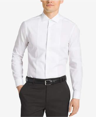 Calvin Klein Steel Men's Slim-Fit French Cuff Tuxedo Shirt $75 thestylecure.com