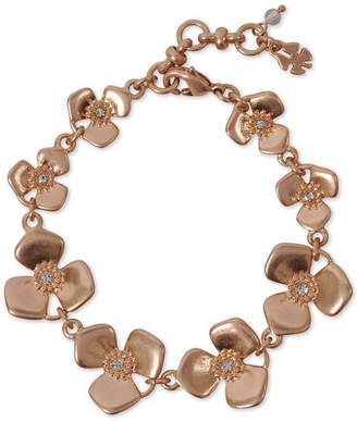 Lucky Brand Rose Crystal Flower Link Bracelet