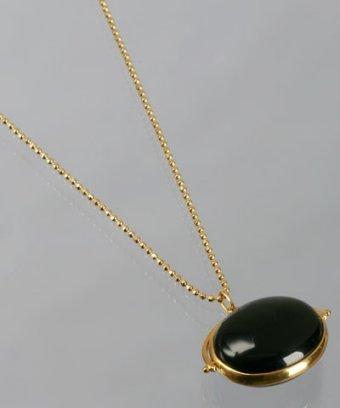 Julie Sandlau black onyx oval pendant necklace