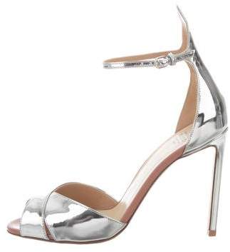 Francesco Russo Metallic Ankle Strap Sandals