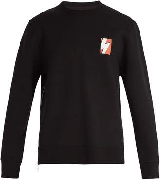 Neil Barrett Thunderbolt jersey-blend sweatshirt