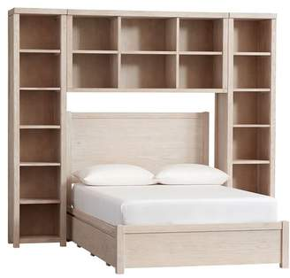 Pottery Barn Teen Costa Storage Bed Superset, Queen, Weathered White