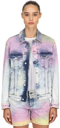 Zadig & Voltaire Tie Dyed Cotton Denim Jacket
