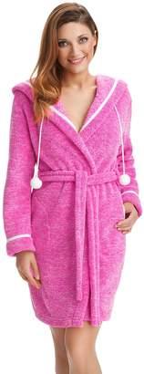 0b2e3636cf Bathrobe by Dorothy Womens Hooded Dressing Gown Housecoat Robe