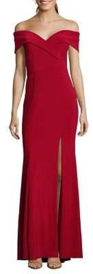 Xscape Evenings Off-The-Shoulder Floor-Length Dress