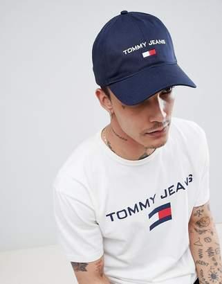 Tommy Jeans 90s Sailing Capsule Flag Logo Soft Baseball Cap in Navy 332703e30741