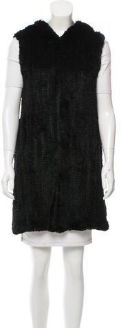 MICHAEL Michael KorsMichael Kors Hooded Fur Vest
