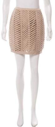 Adam Caged Mini Skirt