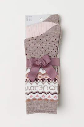 H&M 2-pack Socks - Pink