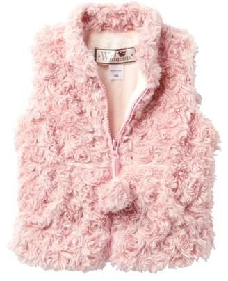 WIDGEON Faux Fur Pompom Vest (Baby Girls)
