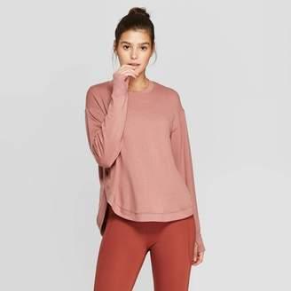 JoyLab Women's Cozy Curved Hem Sweatshirt - JoyLabTM Burlwood XS