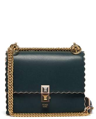Fendi Kan I Small Leather Cross Body Bag - Womens - Dark Green