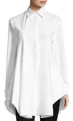 Donna Karan Long-Sleeve Collared Button-Down Shirt