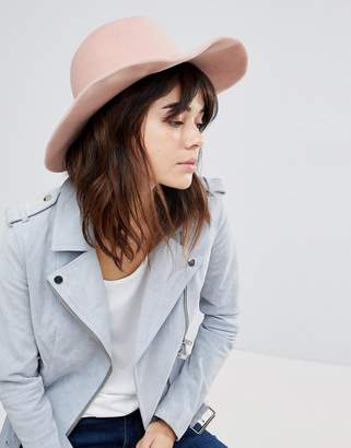 Glamorous Pink Felt Fedora Hat