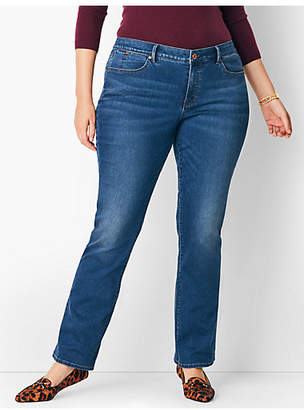 Talbots Plus Size Comfort Stretch High-Rise Barely Boot Jeans - Nestor Wash