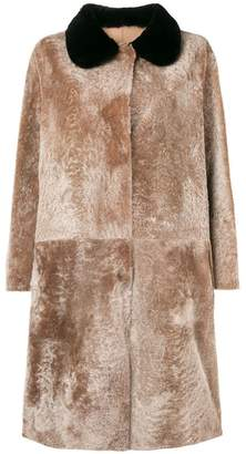 Sofie D'hoore long fur coat