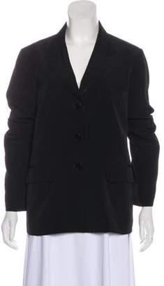 agnès b. Button-Up Long Sleeve Blazer Black Button-Up Long Sleeve Blazer
