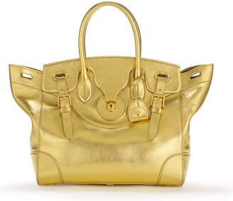 Ralph Lauren Gold Soft Ricky Bag