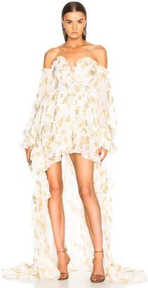 Dundas Asymmetric Ruffle Hem Dress