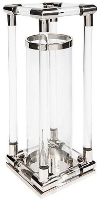 "24"" Large Glass Rod Hurricane - Bradburn Home"