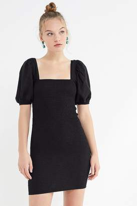 Urban Outfitters Carnation Smocked Puff Sleeve Mini Dress