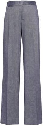 Banana Republic Blake Wide Leg-Fit Stretch Linen-Cotton Pant