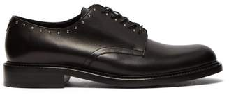 Saint Laurent Army Studded Leather Derby Shoes - Mens - Black