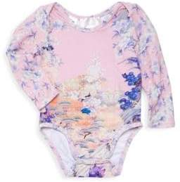 Camilla Baby Girl's Long-Sleeve Floral Bodysuit