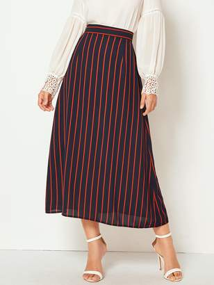 Shein Vertical Striped Zip Back Skirt