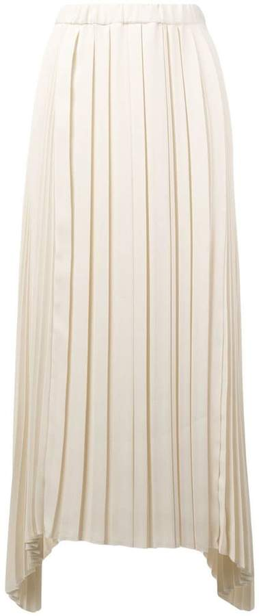 Alysi pleated flared skirt