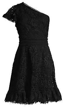 Shoshanna Women's Chelle One-Shoulder Lace Dress