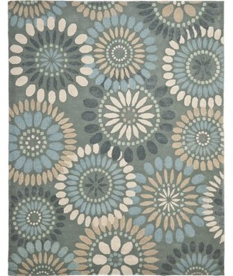 Safavieh Jardin Hand-Tufted Wool Gray/Blue Floral Area Rug