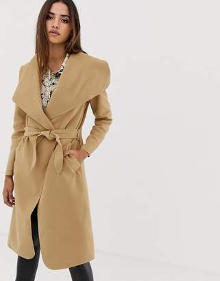 AX Paris belted oversized coat